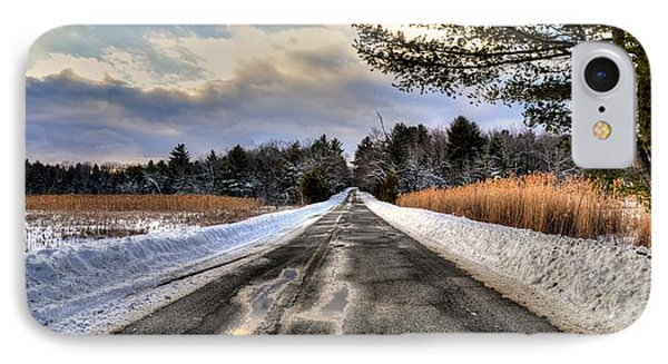 Cold Spring Road - Berkshire County IPhone Case by Geoffrey Coelho
