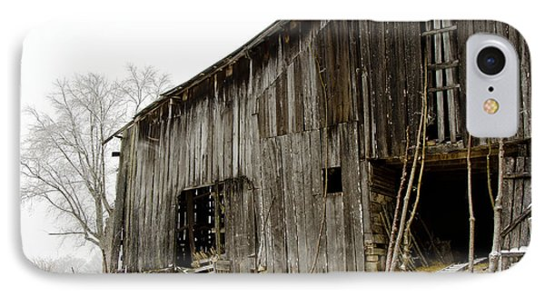 IPhone Case featuring the photograph Cold Winter At The Barn  by Wilma  Birdwell
