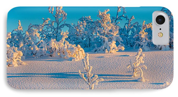 Cold Winter In Lapland Sweden IPhone Case