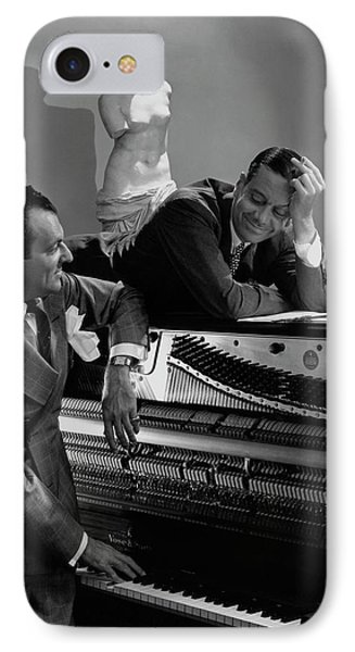 Cole Porter And Moss Hart At A Piano IPhone Case by Lusha Nelson