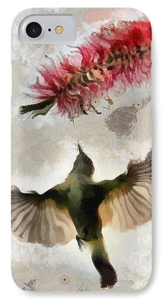 IPhone Case featuring the painting Colibri by Georgi Dimitrov