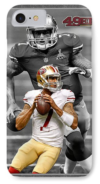 Colin Kaepernick 49ers Phone Case by Joe Hamilton