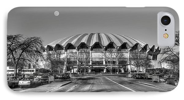 Coliseum B W With Moon IPhone Case by Dan Friend
