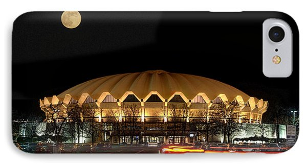 Coliseum Night With Full Moon Phone Case by Dan Friend