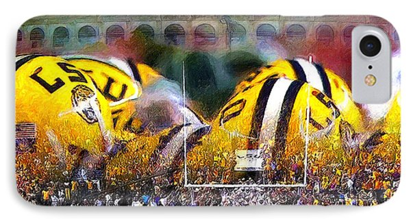 Collage Lsu Tigers IPhone Case by John Farr