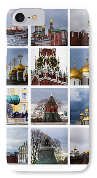 Collage Moscow Kremlin 1 - Featured 3 Phone Case by Alexander Senin