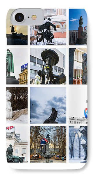 Collage - Moscow Monuments - Featured 3 Phone Case by Alexander Senin
