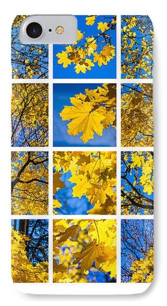Collage October Blues Phone Case by Alexander Senin