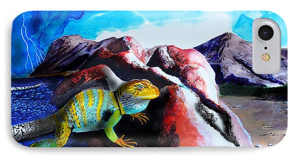 Collared Lizard IPhone Case by J Griff Griffin