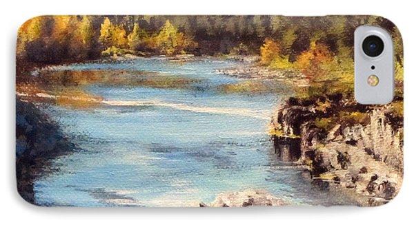 Colliding Rivers Fall Phone Case by Karen Ilari