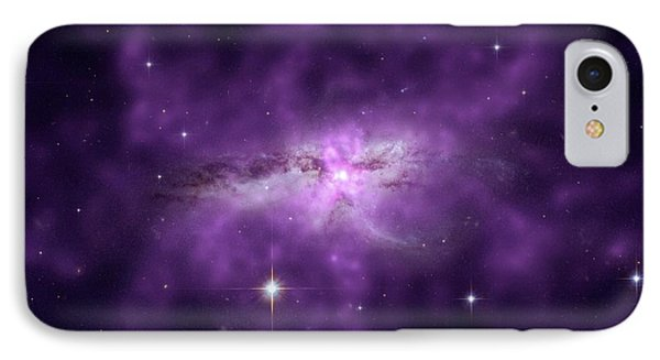 Colliding Spiral Galaxies IPhone Case