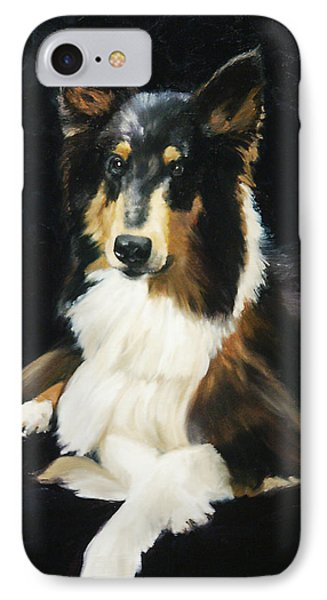 Collie IPhone Case by Alice Leggett