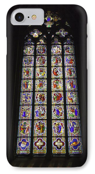 Cologne Cathedral Stained Glass Life Of Christ IPhone Case by Teresa Mucha
