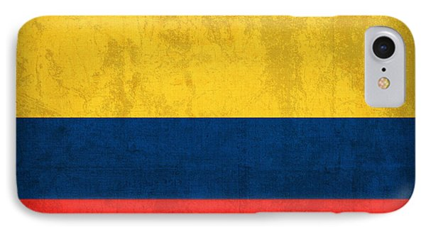 Colombia Flag Vintage Distressed Finish IPhone Case