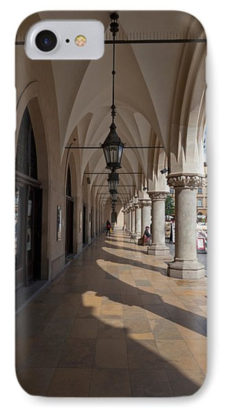 Colonade Along The Side Of Sukiennice IPhone Case by Panoramic Images