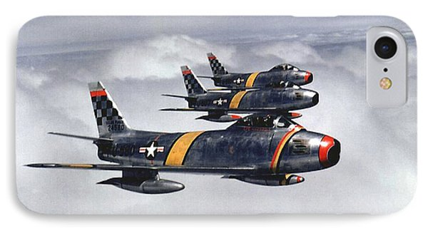 Colonel Ben O. Davis Leads F 86 Sabres Over Korea Upsized IPhone Case by L Brown