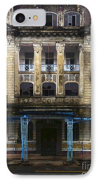 IPhone Case featuring the photograph Colonial Facade Merchant Street 8th Ward Central Yangon Burma by Ralph A  Ledergerber-Photography