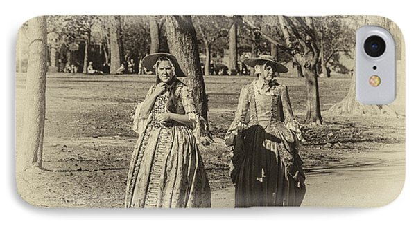 IPhone Case featuring the photograph Colonial Ladies I by Terry Rowe