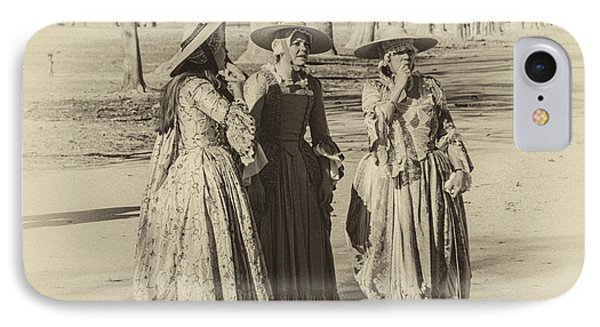 IPhone Case featuring the photograph Colonial Ladies IIi by Terry Rowe