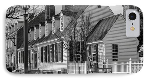 IPhone Case featuring the photograph Colonial Williamsburg  by Trace Kittrell