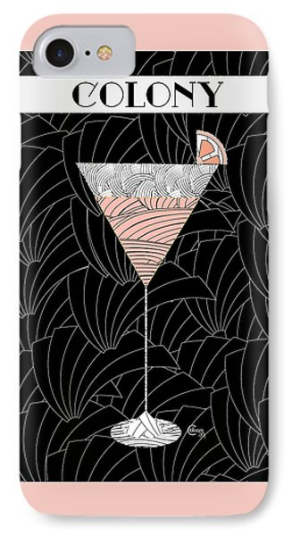 1920s Colony Cocktail Art Deco Swing   IPhone Case by Cecely Bloom