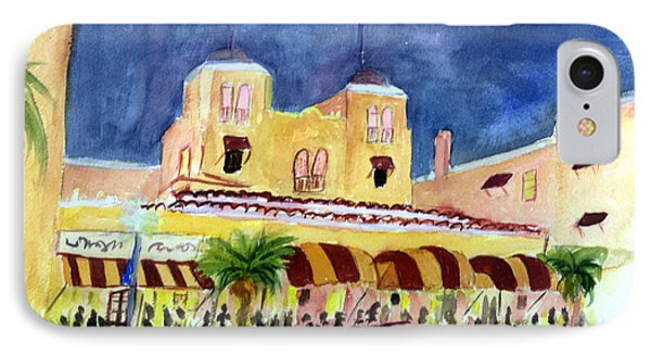 Colony Hotel In Delray Beach IPhone Case by Donna Walsh