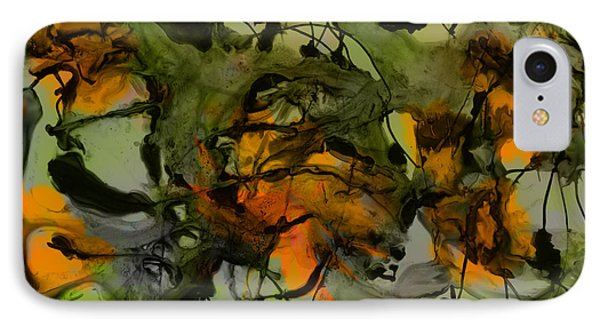 Color Abstraction Xvii IPhone Case by David Gordon