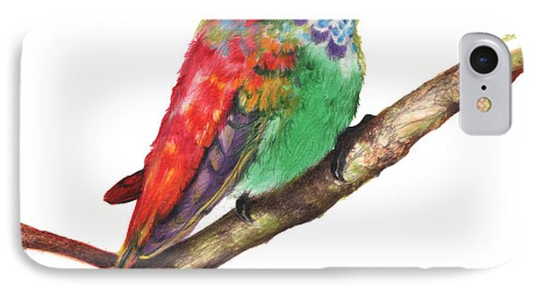 IPhone Case featuring the drawing Color Bird 9 by Anthony Burks Sr