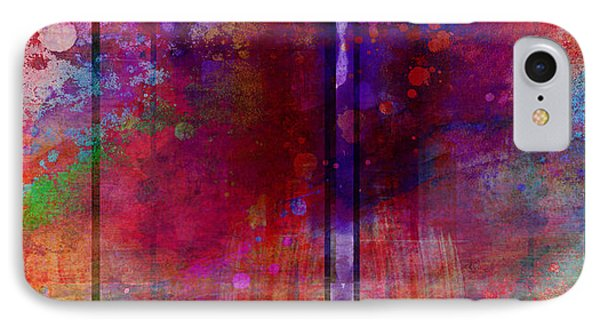 Color Burst Two Abstract Art  Phone Case by Ann Powell