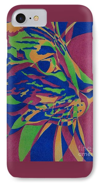 IPhone Case featuring the painting Color Cat I by Pamela Clements