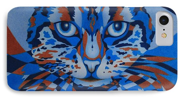 IPhone Case featuring the painting Color Cat IIi by Pamela Clements