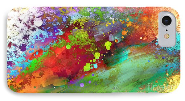 Color Explosion Abstract Art Phone Case by Ann Powell
