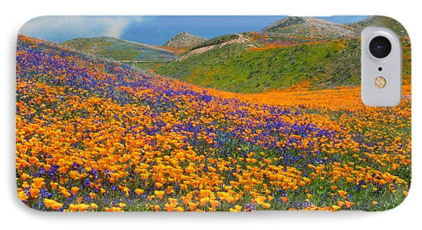 Color Filled Hills - Fine Art By Lynn Bauer IPhone Case by Lynn Bauer