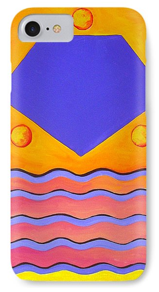 IPhone Case featuring the painting Color Geometry - Pentagon by Carolyn Goodridge