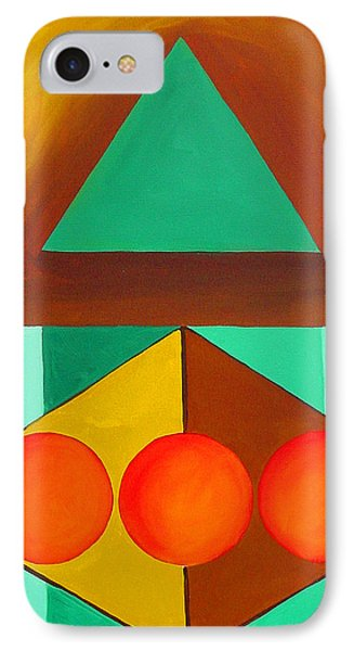 IPhone Case featuring the painting Color Geometry - Triangle by Carolyn Goodridge