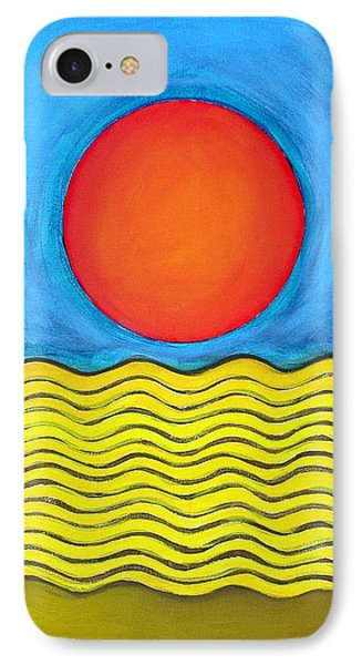 IPhone Case featuring the painting Color Geometry - Whole by Carolyn Goodridge
