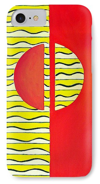 IPhone Case featuring the painting Color Geometry-halves by Carolyn Goodridge