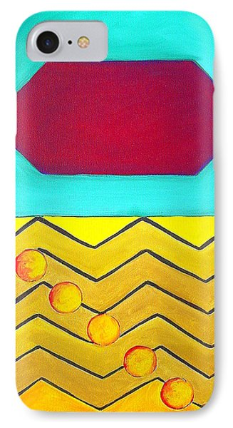 IPhone Case featuring the painting Color Geometry - Hexagon by Carolyn Goodridge