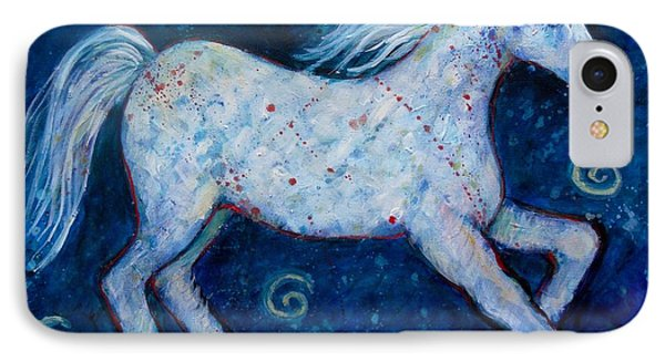 Color Horse Blue Go Running IPhone Case