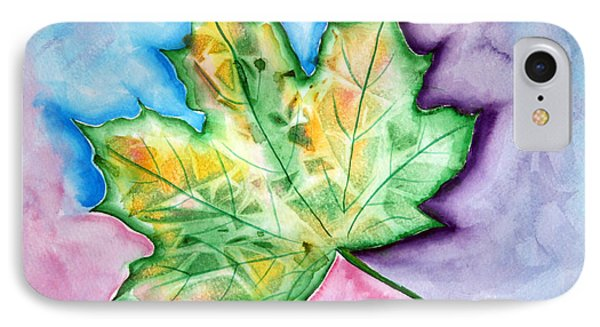 Color Leaf IPhone Case by Dani Abbott