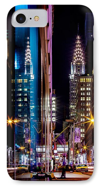 Chrysler Building iPhone 7 Case - Color Of Manhattan by Az Jackson