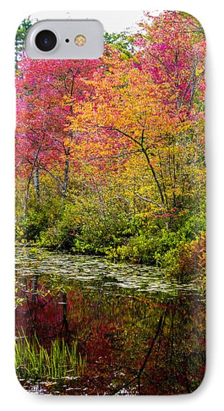 IPhone Case featuring the photograph Color On The Water by Mike Ste Marie