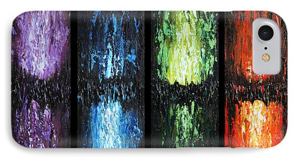 Color Panels 1 IPhone Case by Patricia Lintner