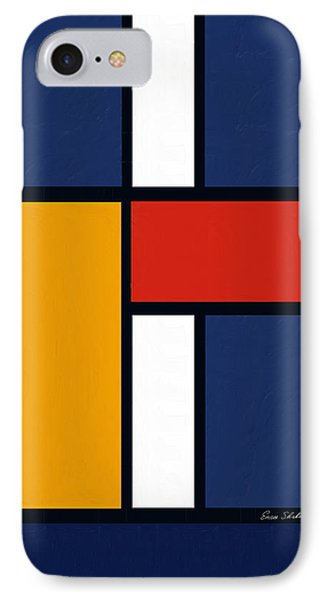 Color Squares - Mondrian Inspired IPhone Case by Enzie Shahmiri