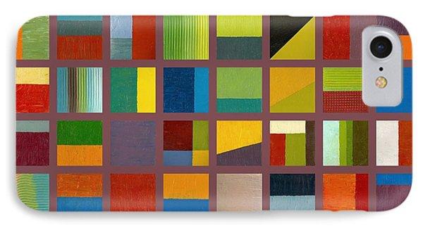Color Study Collage 65 Phone Case by Michelle Calkins