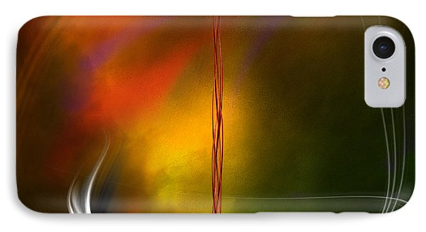 IPhone Case featuring the digital art Color Symphony With Red Flow 1 by Johnny Hildingsson