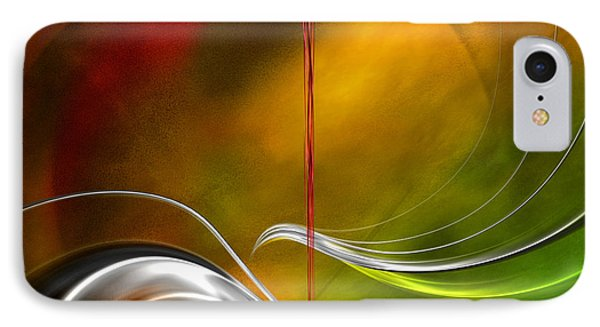 IPhone Case featuring the digital art Color Symphony With Red Flow 2 by Johnny Hildingsson