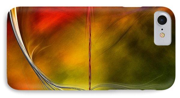 IPhone Case featuring the digital art Color Symphony With Red Flow 3 by Johnny Hildingsson