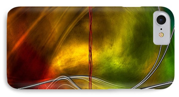 IPhone Case featuring the digital art Color Symphony With Red Flow 5 by Johnny Hildingsson