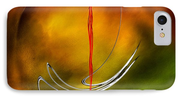 IPhone Case featuring the digital art Color Symphony With Red Flow 6 by Johnny Hildingsson